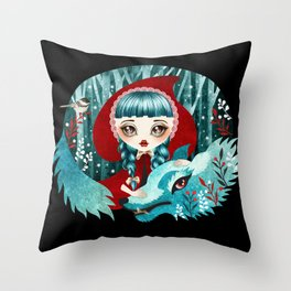 Red of the Woods Throw Pillow