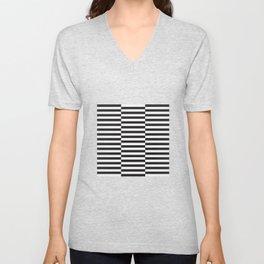 IKEA STOCKHOLM Rug Pattern - black stripe black Unisex V-Neck