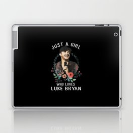 Just a girl who loves Luke Bryan Laptop & iPad Skin