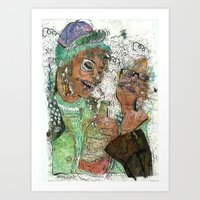 wasted rita Art Prints featuring Wasted  by Lauren Utter
