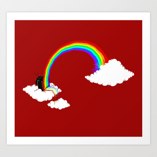 Rainbow TV Art Print