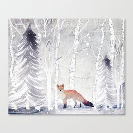 FOX FOX FOX Canvas Print