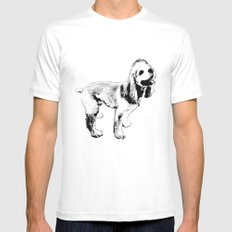 Ginger Happy Cocker Spaniel Mens Fitted Tee White MEDIUM