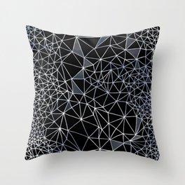 Organometric Primes 1.Black  #decor #geometric Throw Pillow