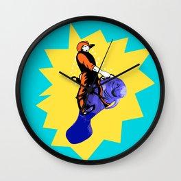 Cowboy Manatee Wall Clock