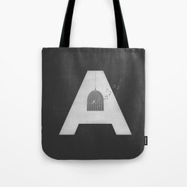 """A - Maja Angelou """"I know why the caged bird sings"""" Tote Bag"""