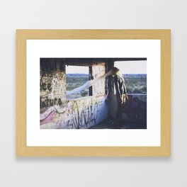 divine intervention Framed Art Print