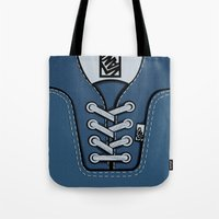 vans Tote Bags featuring blue Vans shoes iPhone 4 4s 5 5s 5c, ipod, ipad, pillow case and tshirt by Three Second