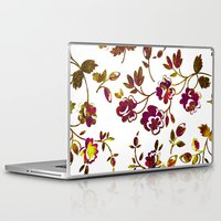rose gold Laptop & iPad Skins featuring Rose Gold by Stevyn Llewellyn