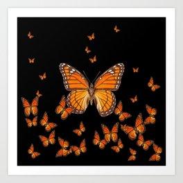 WORLD OF MONARCH BUTTERFLIES Art Print