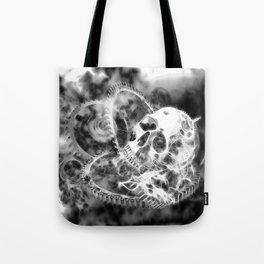 Zahn der Zeit - schwarz-weiß Tote Bag
