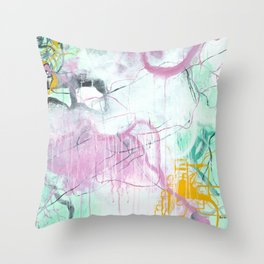 Chrystarium - Square Abstract Expressionism Throw Pillow