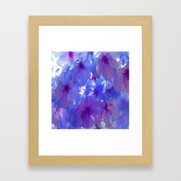 Blue Cherry Blossoms Framed Art Print