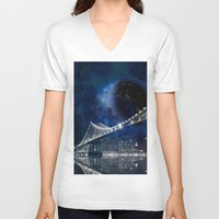 new york city V-neck T-shirts featuring New!! New York City by Simone Gatterwe