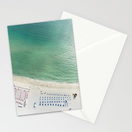 Helicopter View of Miami Beach Stationery Cards