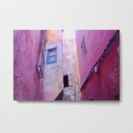 Pink and Purple Morocco Metal Print