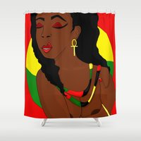 pride Shower Curtains featuring Pride by Courtney Ladybug Johnson