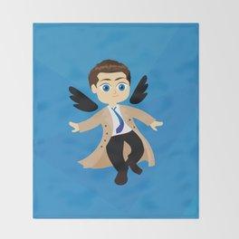 Angel Castiel Supernatural Throw Blanket