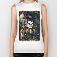 tarot Biker Tanks featuring Tarot & Totems by Chad Savage