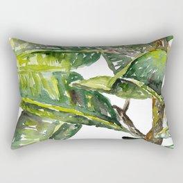 Ficus Leaves Rectangular Pillow