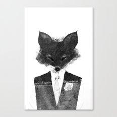 minima - dapper fox | noir Canvas Print