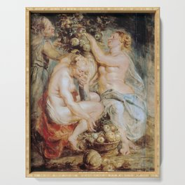 Peter Paul Rubens - Ceres and Two Nymphs with a Cornucopia Serving Tray