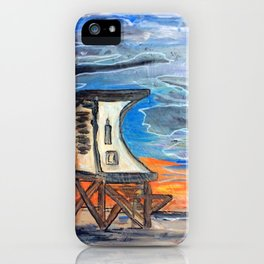 Wrightsville beach Lifeguard stand 1 iPhone Case