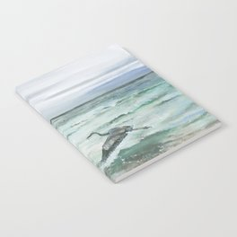 Anna Maria Island Florida Seascape with Heron Notebook