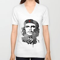 che V-neck T-shirts featuring CHE by Rebecca Bear
