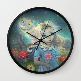 Alice in Wonderland Fantasy Art Wall Clock
