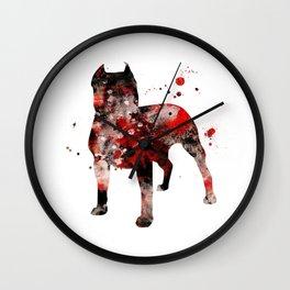 Dark Pitbull Wall Clock