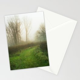 Beautiful Morning - Autumn Field in Fog Stationery Cards