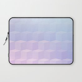 Pastel Cube Pattern Ombre 1 - pink, blue and vi Laptop Sleeve