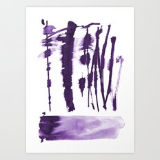 Decorative strokes Art Print
