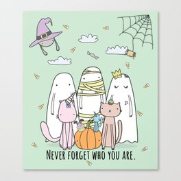 Happy Halloween Ghost Canvas Print