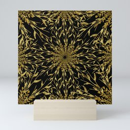 Black Gold Glam Nature Mini Art Print