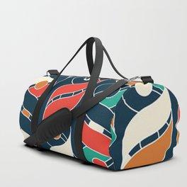 Colorful Vintage Geometric Stripes Pattern Duffle Bag