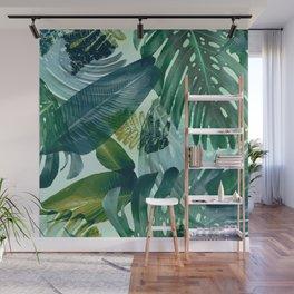Jungles greens, banana leaf, tropical, Hawaii decor Wall Mural