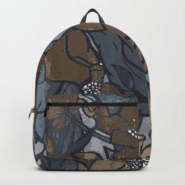 Vintage Flowerscape - Blue Denim Backpack