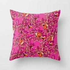 Glam Tack Throw Pillow
