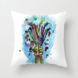 Artists Bouquet Throw Pillow