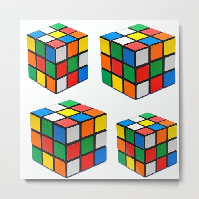 Multi Rubik Metal Print