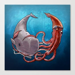 Squide & Whale Canvas Print