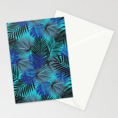 Tropical Blue Palms Stationery Cards
