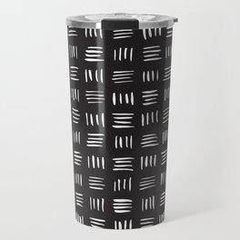 Lines on Lines // white Travel Mug