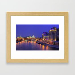 Electric Nights in Moscow Framed Art Print