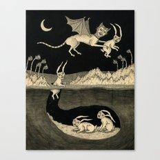 An Abrupt Farewell Canvas Print
