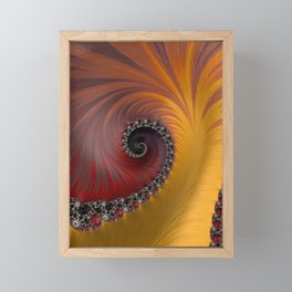 Sunset Spiral - Fractal Art  Framed Mini Art Print
