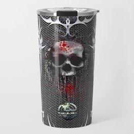 The creepy skull Travel Mug