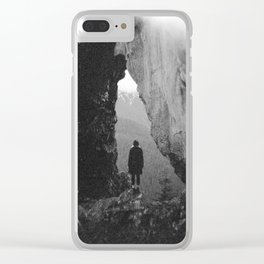 Through the Looking Glass - Holga Black and White Photograph in the Pacific Northwest Clear iPhone Case